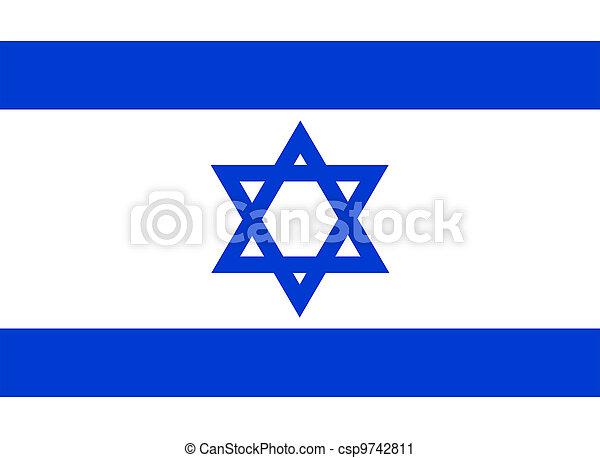Bandera de Israel. - csp9742811
