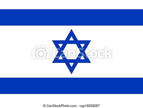 Bandera de Israel - csp16009287