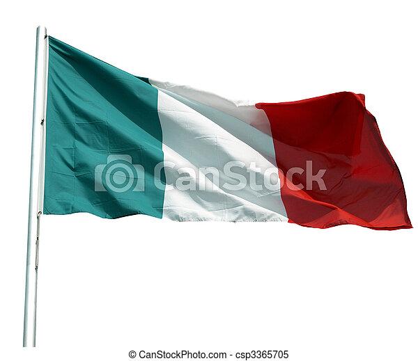Bandera italiana - csp3365705