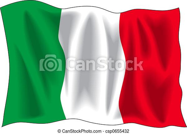 Bandera italiana - csp0655432