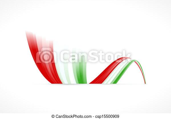 Bandera italiana - csp15500909