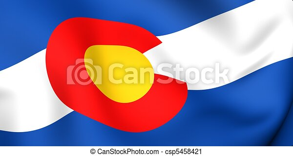 bandera, kolorado, usa. - csp5458421