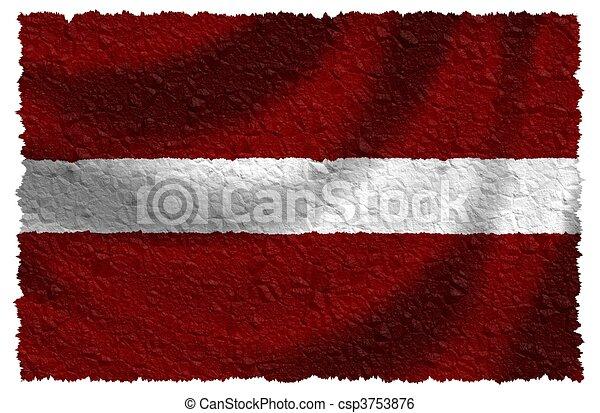 Bandera de Letonia - csp3753876