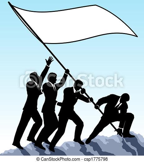 bandera, levantar - csp1775798