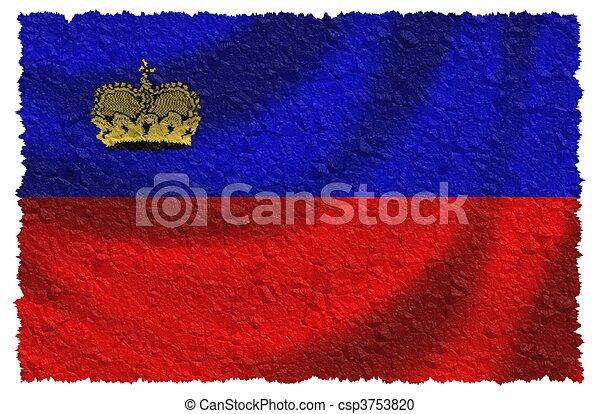 Bandera de Liechtenstein - csp3753820