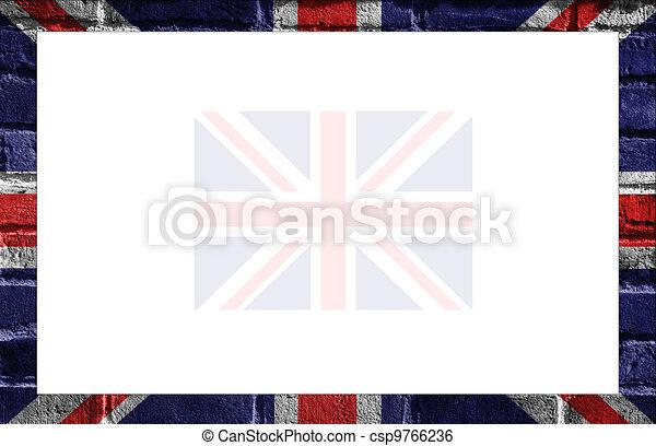 Bandera, -, marco, británico, reino unido. Estilo, frame., pintado ...