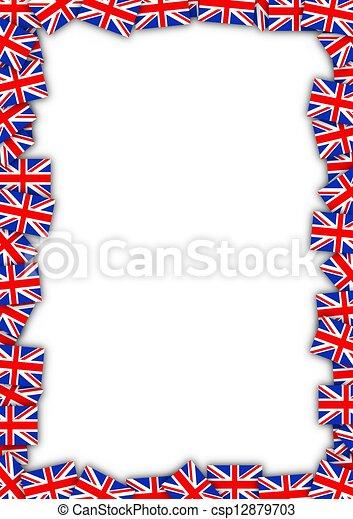 Bandera, marco, reino unido. Reino, formación, marco, unido, banderas.