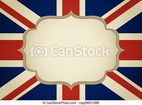 Bandera, marco, reino unido. Reino, insignia, unido, plano de fondo ...