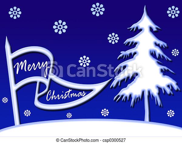 La bandera de Navidad - csp0300527