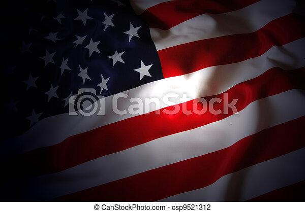 La bandera de EEUU - csp9521312