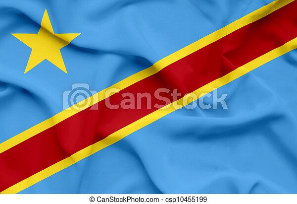 República Democrática del Congo ondeando bandera - csp10455199