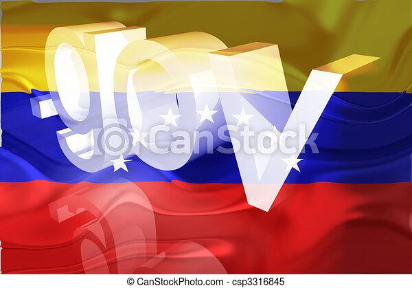 bandera, ondulado, venezuela, gobierno - csp3316845
