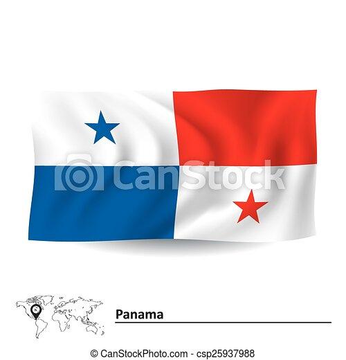Bandera Panamá Panamá Vector Bandera Ilustración