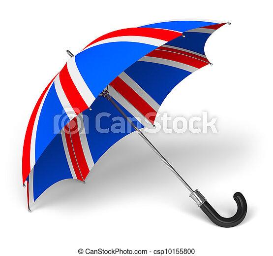 Umbrella con bandera británica - csp10155800