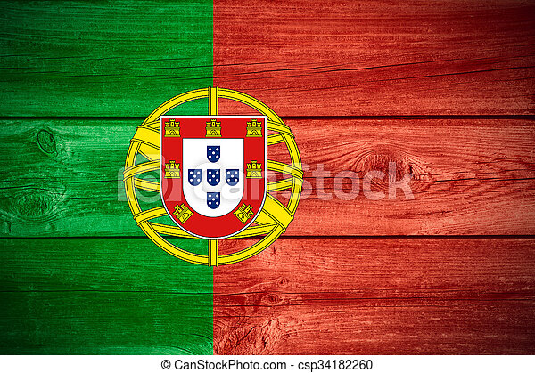 Bandera portuguesa - csp34182260
