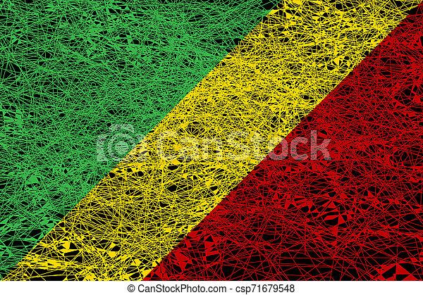 Bandera De La República Del Congo Ilustración Al Estilo Grunge Canstock
