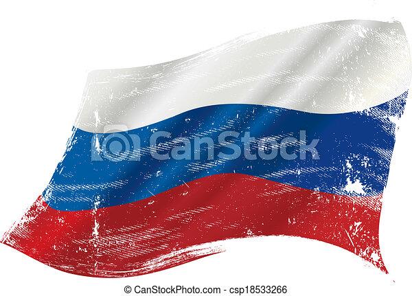 Bandera grunge rusa - csp18533266