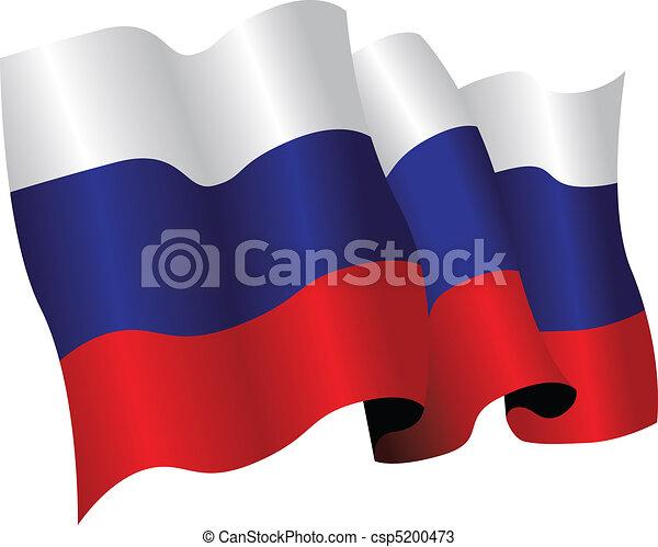 Bandera rusa - csp5200473