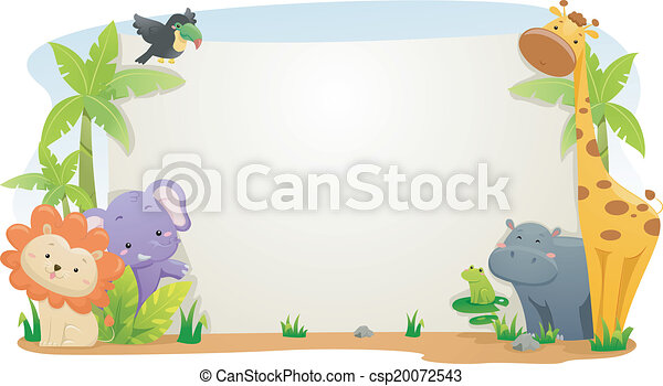 Estandarte animal Safari - csp20072543