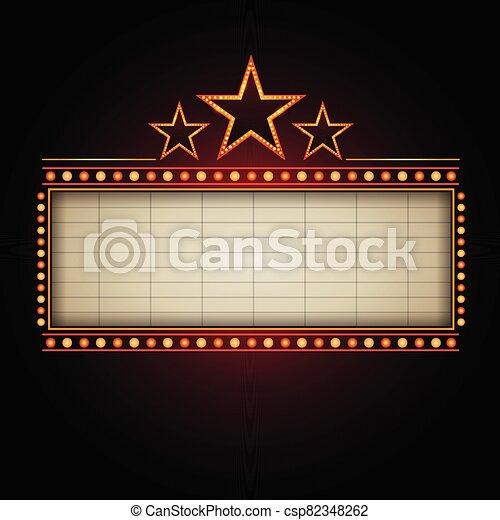 bandera, señal, casino, texto, teatro - csp82348262