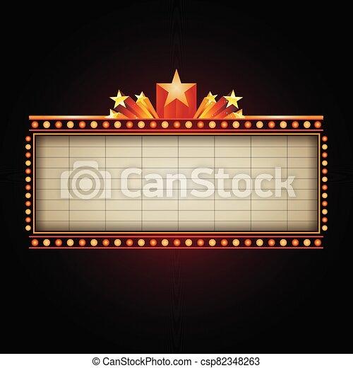 bandera, señal, casino, texto, teatro - csp82348263