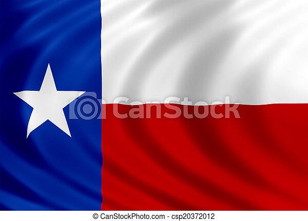Bandera de seda de Texas - csp20372012