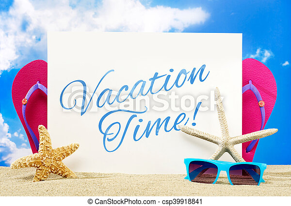 Pancarta de vacaciones - csp39918841