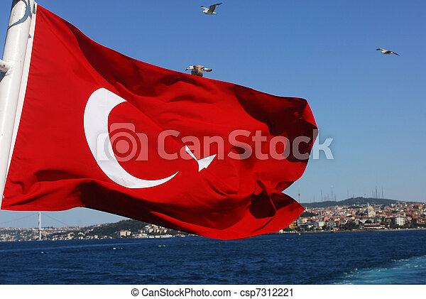 bandera, turco - csp7312221