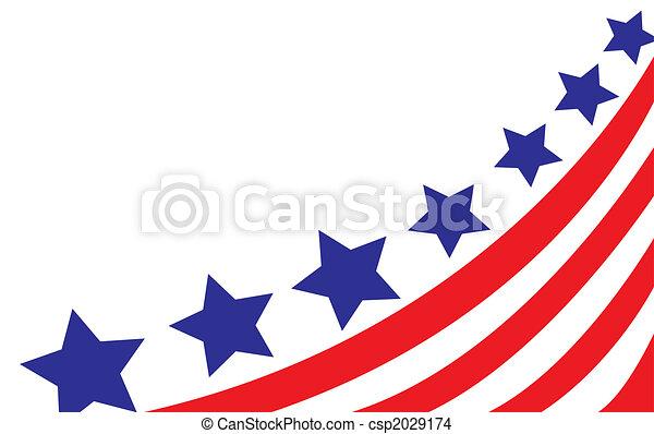 bandera, vector, estilo, estados unidos de américa - csp2029174