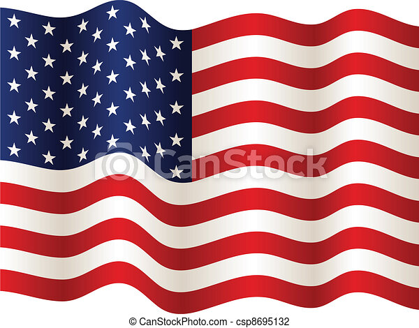 bandera, wektor, usa - csp8695132