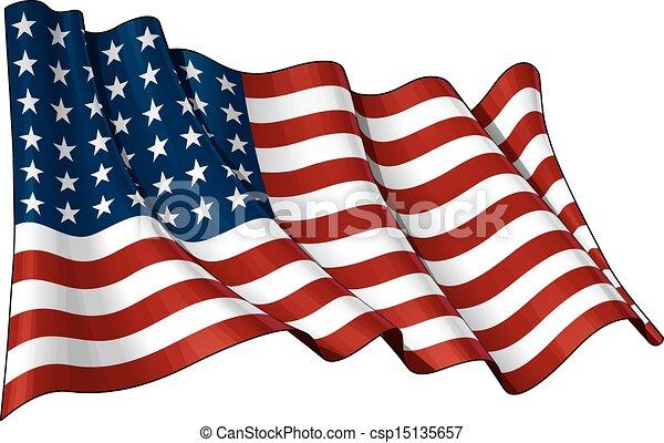 La bandera de EEUU WWI-WII (48 estrellas) - csp15135657