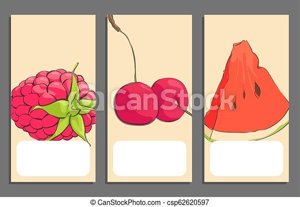 Pancartas de frutas - csp62620597