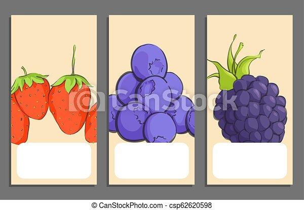 Pancartas de frutas - csp62620598