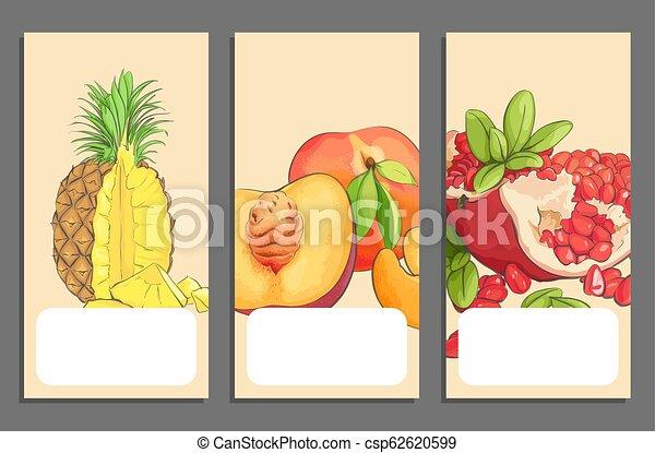 Pancartas de frutas - csp62620599