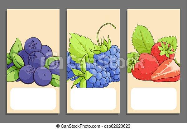 Pancartas de frutas - csp62620623