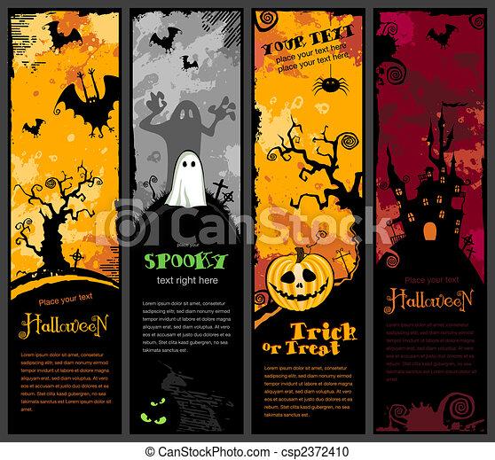 Estandartes de Halloween - csp2372410