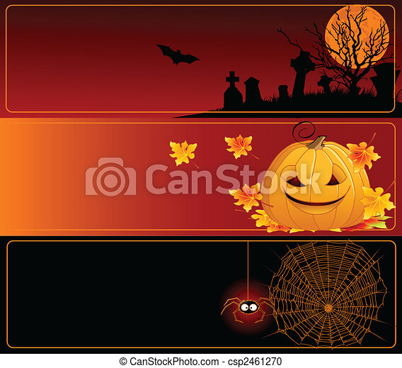 Estandartes de Halloween - csp2461270