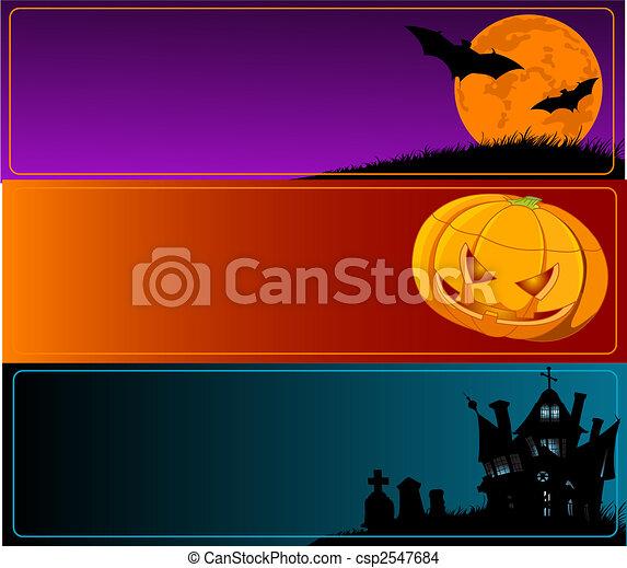 Estandartes de Halloween - csp2547684