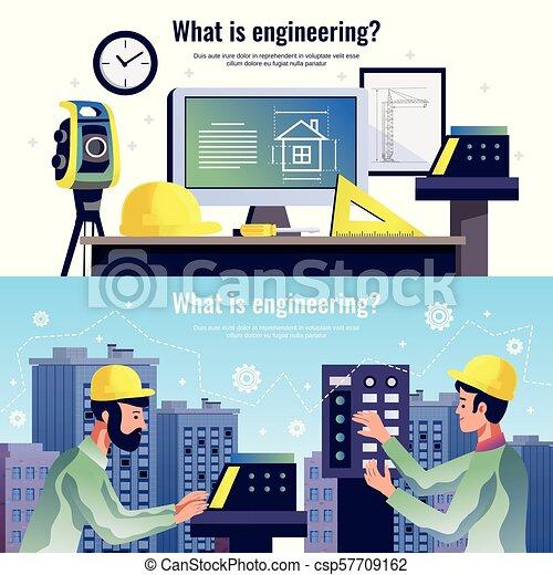 Estandartes horizontales de ingeniería - csp57709162