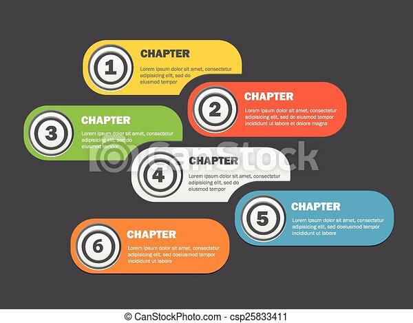 Estandartes infográficos diseñados con iconos - csp25833411