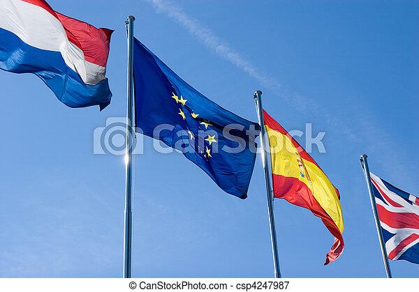 Banderas internacionales - csp4247987
