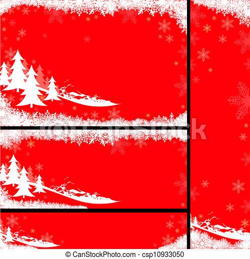 Pancartas de Navidad rojas - csp10933050