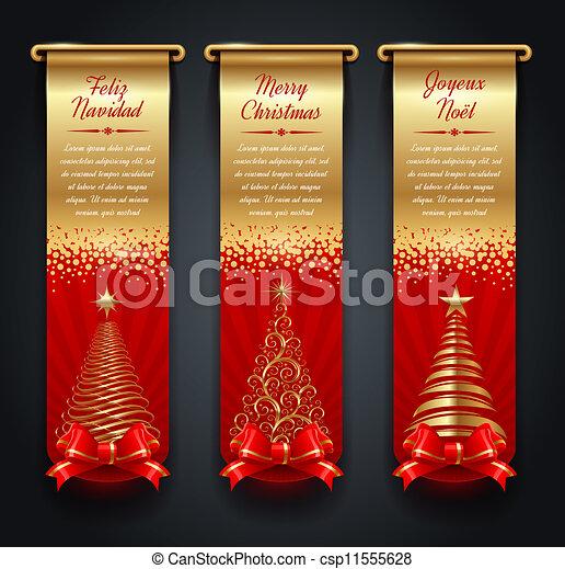 Banners con saludos navideños - csp11555628