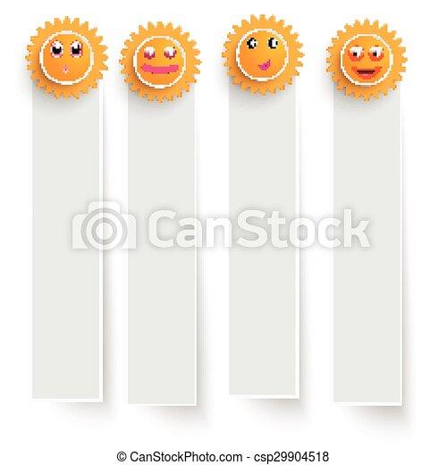 Estandartes blancos con soles graciosos - csp29904518