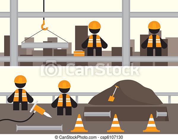 Estandartes de obreros - csp6107130