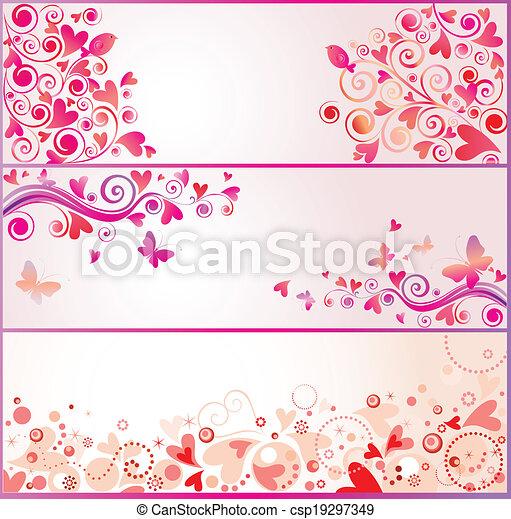 Pancartas de San Valentín - csp19297349
