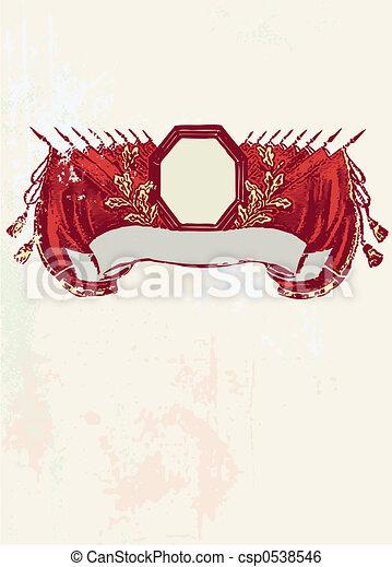 bandery, czerwony - csp0538546