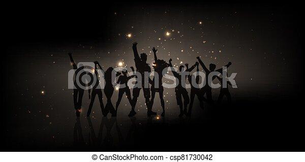 bandiera, 2605, ardendo, luci, persone, festa - csp81730042
