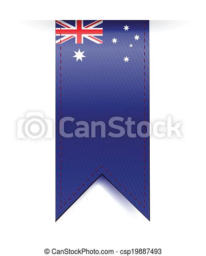 bandiera, bandiera, australia, disegno, illustrazione - csp19887493