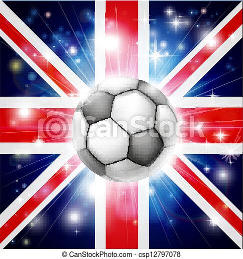 bandiera, calcio, regno unito - csp12797078